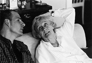 Astrid Lindgren und Matthias Blum. Foto von Jacob Forsell