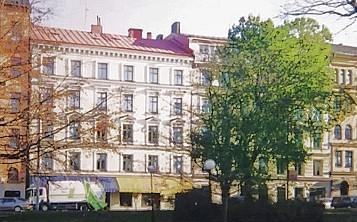Astrid Lindgren's Wohnsitz in der Dalagatan 46 im Vasaviertel in Stockholm mit der Linde